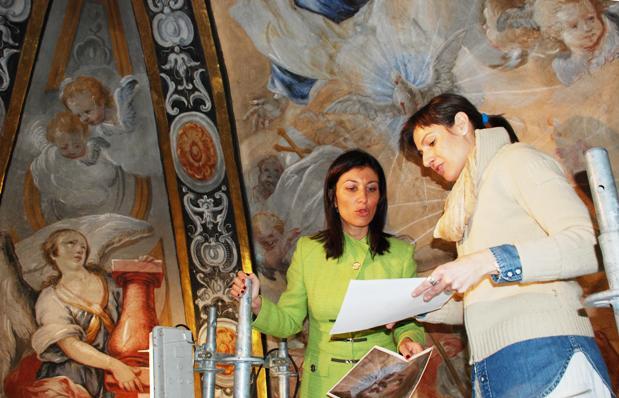 Restauran los frescos del Camarín de Ntro. Padre Jesús en la Iglesia de Santa Ana